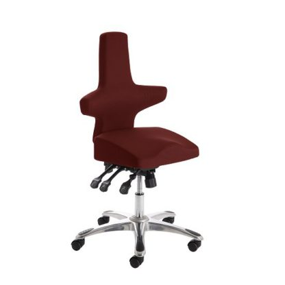 An Image of Stacy Home Office Chair In Chilli With Chrome Base