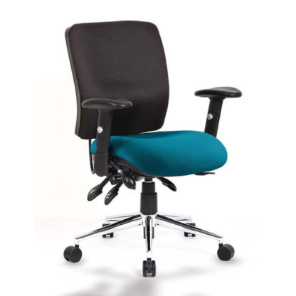 An Image of Chiro Medium Back Office Chair With Maringa Teal Seat