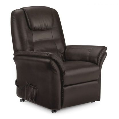 An Image of Brandon Modern Recliner Chair In Brown Faux Leather