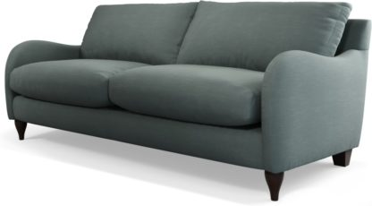 An Image of Custom MADE Sofia 3 Seater Sofa, Athena Dark Grey