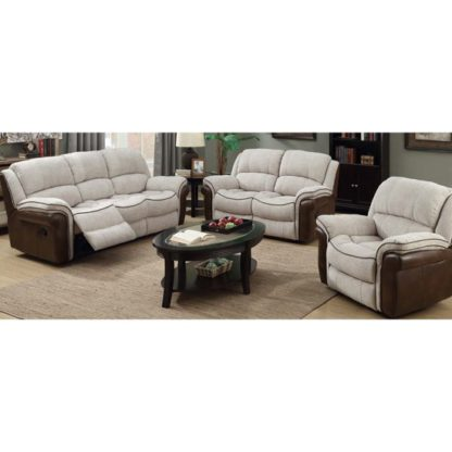 An Image of Lerna Fusion 3 Seater Sofa And 2 Seater Sofa Suite In Mink