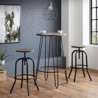 An Image of Spitfire Industrial Bar Stool In Mocha Elm