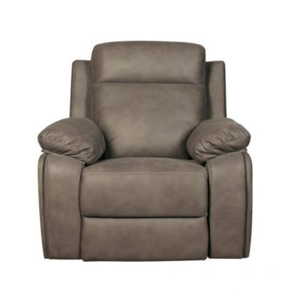 An Image of Denton Contemporary Fabric Recliner Sofa Chair In Grey