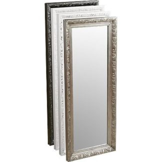 An Image of Henry Decorative Wall Mirror In White Only