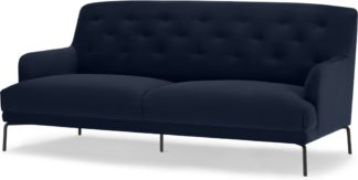 An Image of Attwood 3 Seater Sofa, Ink Blue Velvet