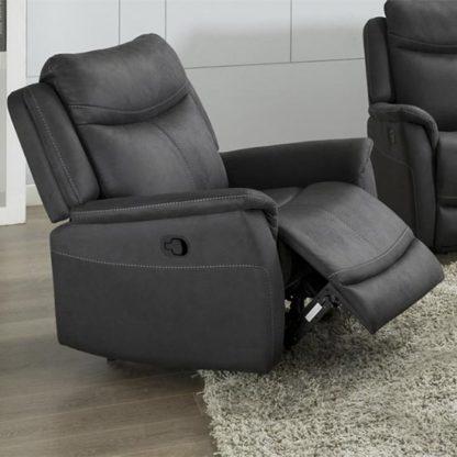 An Image of Arizona Fabric Fixed Armchair In Slate