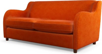 An Image of Custom MADE Helena Sofabed with Memory Foam Mattress, Plush Paprika Velvet