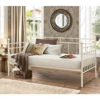 An Image of Lyon Steel Daybed In Cream