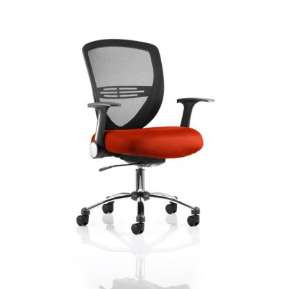 An Image of Avram Home Office Chair In Pimento With Castors