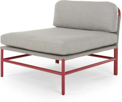 An Image of Kian Modular Middle Unit, Rust Red and Grey