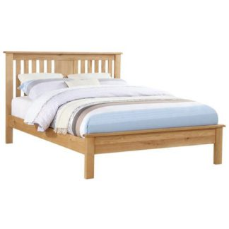 An Image of Heaton Wooden Low End King Size Bed In Oak