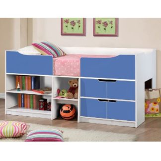 An Image of Nottingham Children Cabin Bed In White And Blue