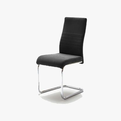 An Image of Jonas Metal Swinging Black Dining Chair