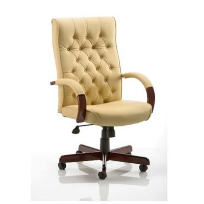 An Image of Chesterfield Cream Colour Office Chair