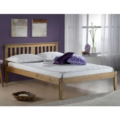 An Image of Salvador Wooden Single Bed In Antique Pine