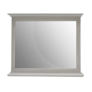 An Image of Boody Wooden Bedroom Mirror In Grey Pained Finish