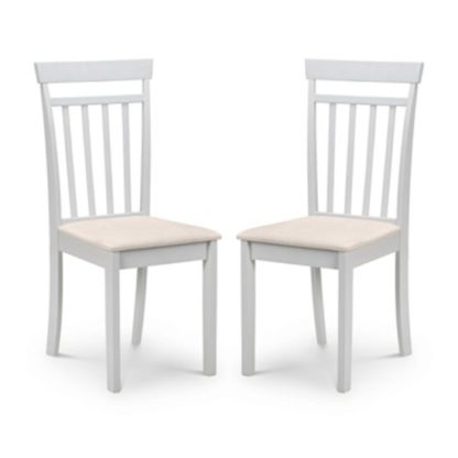 An Image of Coast Pebble Wooden Dining Chair In Pair