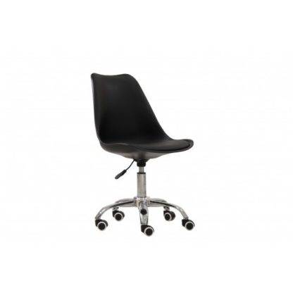An Image of Larsson Swivel Home Office Chair In Black