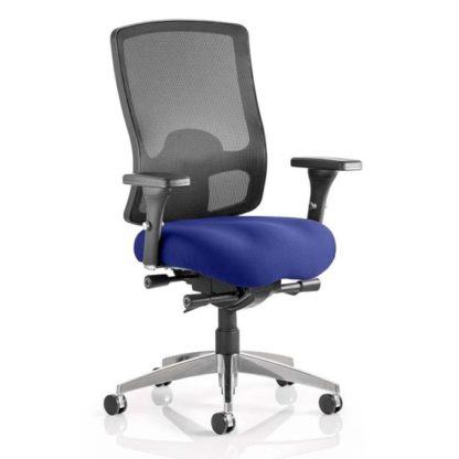 An Image of Regent Office Chair With Stevia Blue Seat And Arms