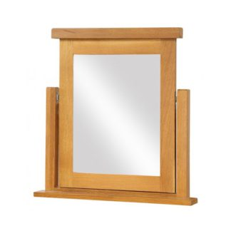 An Image of Acorn Dressing Mirror In Light Oak Wooden Frame