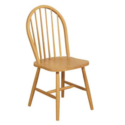 An Image of Marsic Spindleback Dining Chair In Light Oak