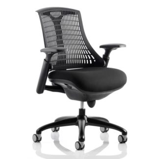 An Image of Flex Task Office Chair In Black Frame With Black Back
