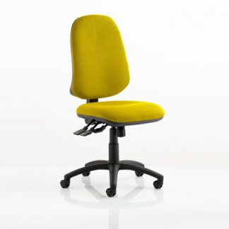 An Image of Olson Home Office Chair In Yellow With Castors