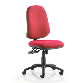 An Image of Eclipse Plus XL Office Chair In Wine No Arms