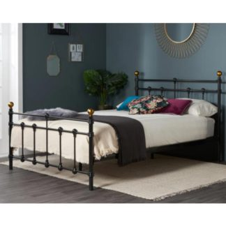 An Image of Atlas Steel Double Bed In Black
