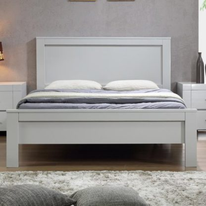 An Image of California Wooden King Size Bed In Grey