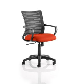 An Image of Eclipse Home Office Chair In Pimento With Castors