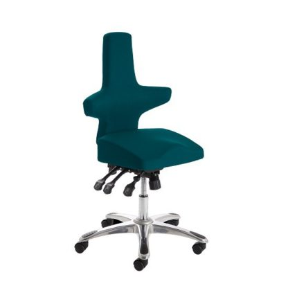 An Image of Stacy Home Office Chair In Kingfisher With Chrome Base