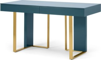 An Image of Arpen Desk, Teal and Brass