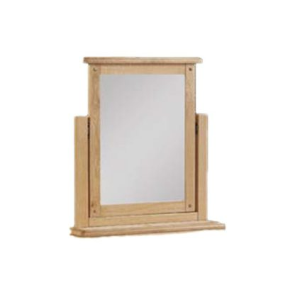 An Image of Heaton Dressing Mirror With Oak Frame