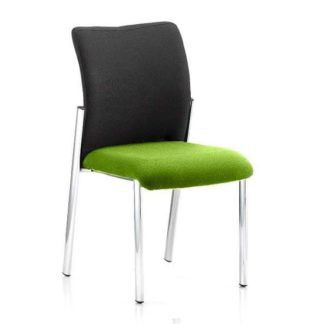 An Image of Academy Black Back Visitor Chair In Myrrh Green No Arms