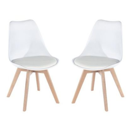 An Image of Arturo White Bistro Chair In Pair