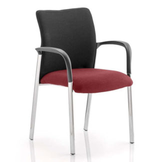 An Image of Academy Black Back Visitor Chair In Ginseng Chilli With Arms