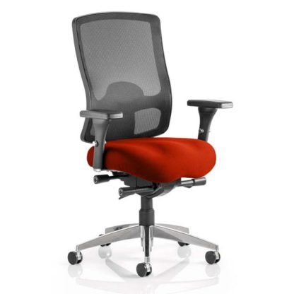 An Image of Regent Office Chair With Tabasco Red Seat And Arms