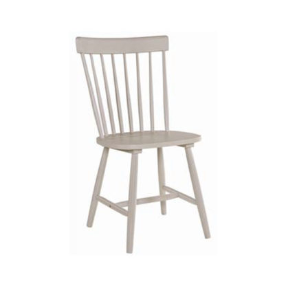 An Image of Rotanev Wooden Dining Chair In Stone Grey