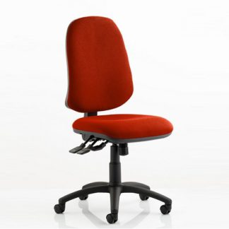 An Image of Olson Home Office Chair In Pimento With Castors