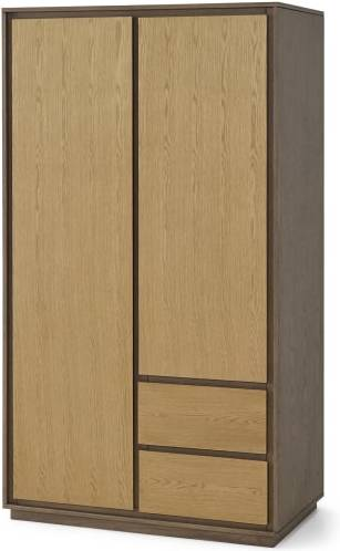 An Image of Arbery Double Wardrobe, Oak Veneer