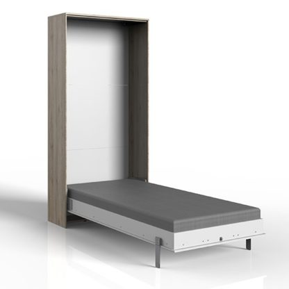 An Image of Juist Wooden Vertical Foldaway Single Bed In San Remo Oak