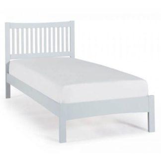 An Image of Mya Hevea Wooden Single Bed In Grey