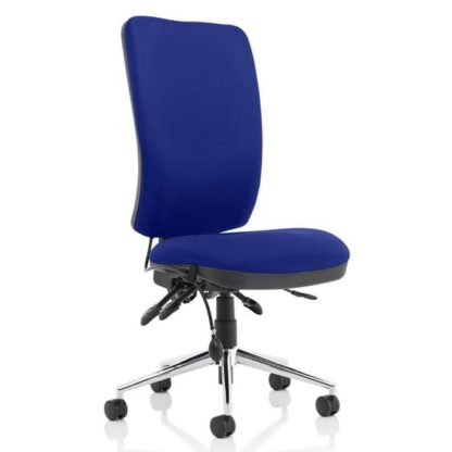 An Image of Chiro High Back Office Chair In Stevia Blue No Arms