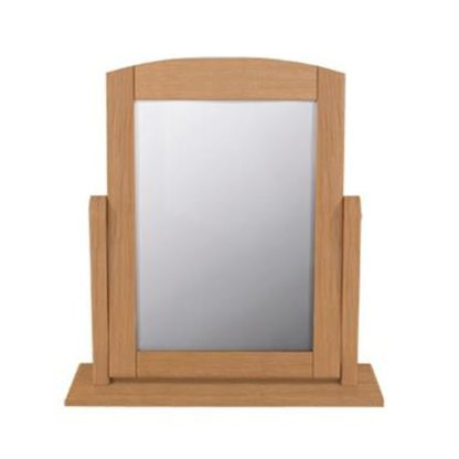 An Image of Aberdeen Single Dressing Mirror With Oak Frame