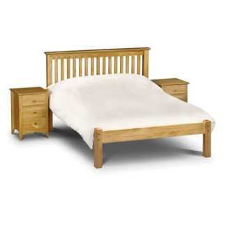 An Image of Velva Wooden King Size Low Foot Bed In Low Sheen Lacquer