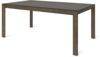 An Image of Custom MADE Corinna 8 Seat Dining Table, Concrete and Smoked Oak