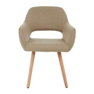 An Image of Porrima Rubberwood Dining Chair In Natural