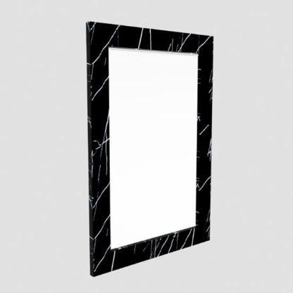 An Image of Santos Rectangular Wall Mirror In Black