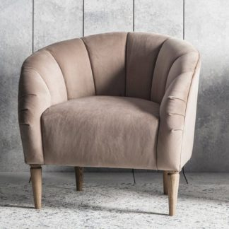 An Image of Tulip Bedroom Chair In Wheat Velvet